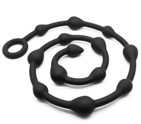 2019 Nouvelle Arrivée Big Silicone Anal Perles Flexible Butt Plugs Anal Sex Toys Produits de Sexe Unisexe Anal Boules