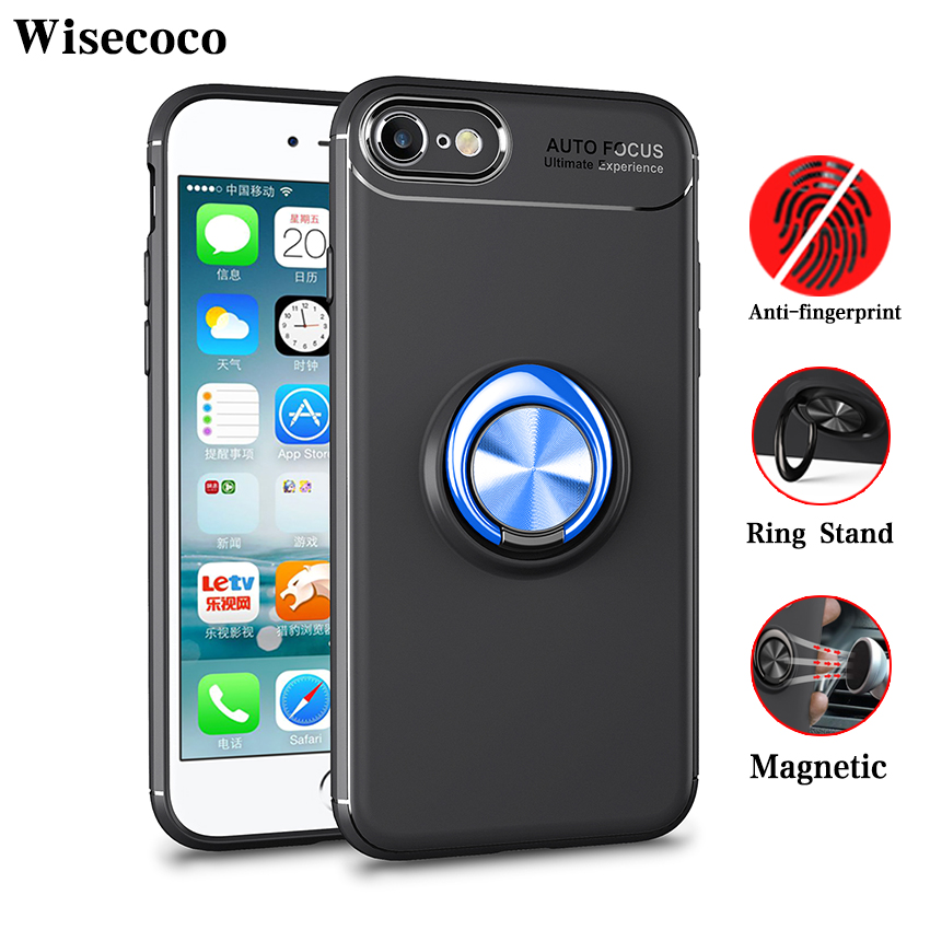 Hot Sale Magnetic Adsorption For Iphone 7 8 Case Luxury Car 360 Ring
