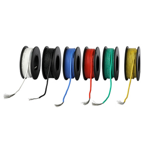 Image 3 - 197ft Electrical Wire UL3132 22AWG Stranded Hook up Wire Tinned Copper 300V Soft Silicone Insulator 6 Colors for DIY Toys Lamp