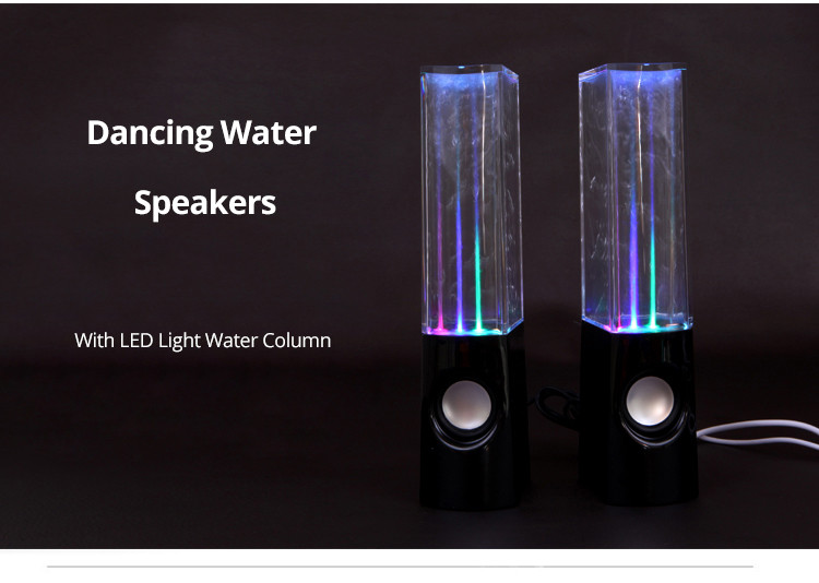 LED Light Dancing Water Speakers Fountain Music For Desktop Laptop PC