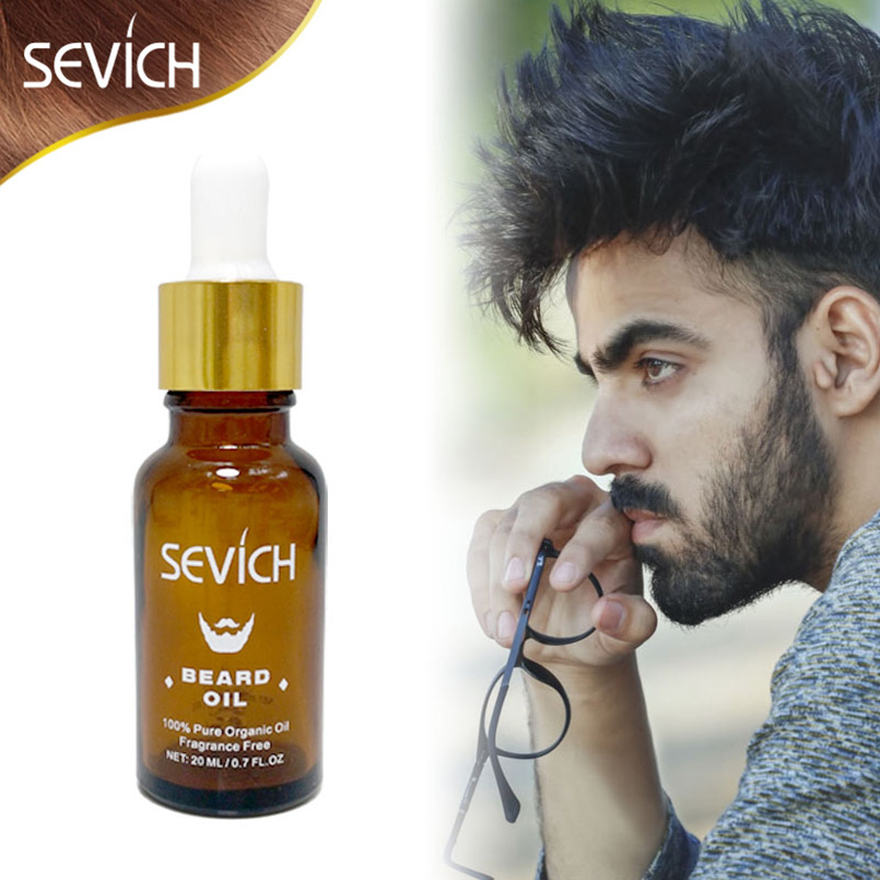 Sevich Brand Natural 20ML Men Beard Oil For Styling Beeswax Gentlemen Beard Care Conditioner Grow Smoothing Hair Loss Products