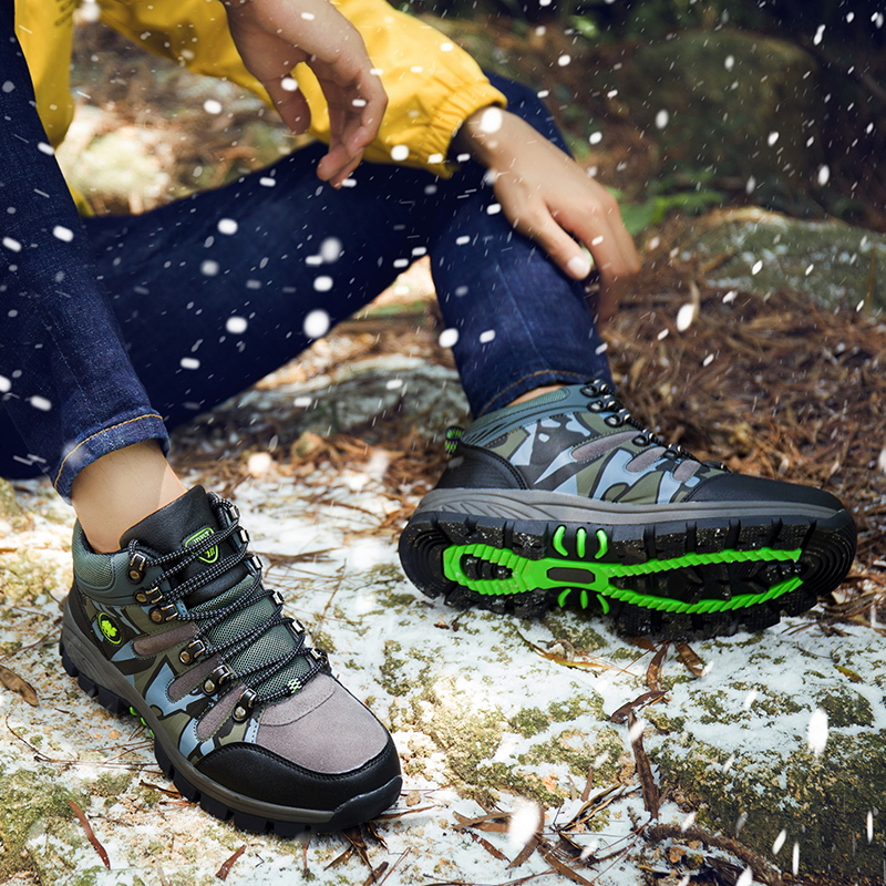 Thestron Hiking Sneakers Hunting-Shoes Outdoor Winter Brown Autumn Man Men Gray Comfortable