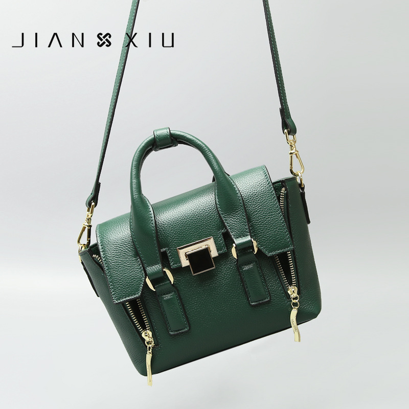 The first layer of leather 2018 new women's bags European and American fashion ladies shoulder slung bag lock smile face bag qiaobao 2018 new korean version of the first layer of women s leather packet messenger bag female shoulder diagonal cross bag