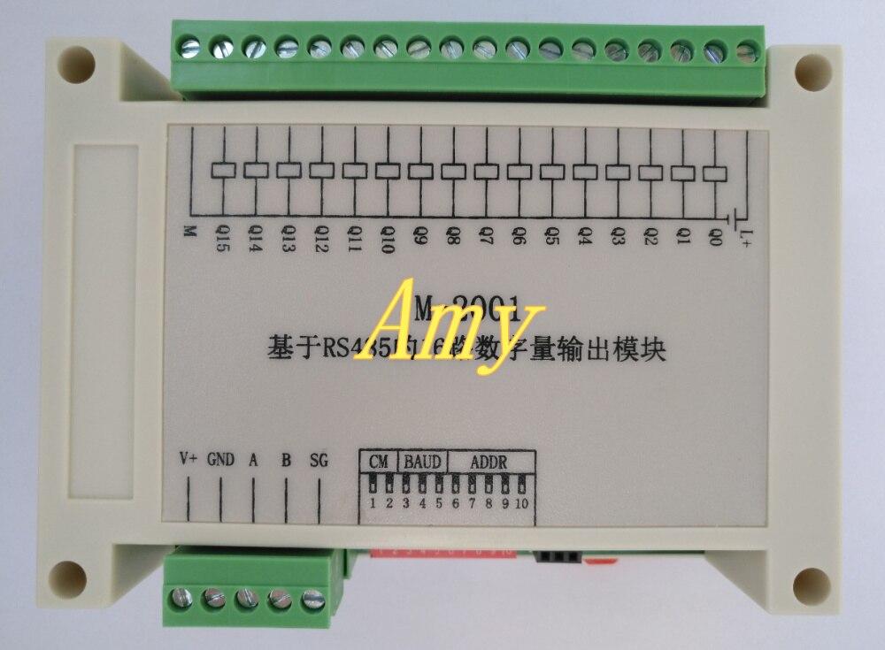 M-: 16 vie modulo di uscita digitale basata su RS485 (tipo di raccolta).M-: 16 vie modulo di uscita digitale basata su RS485 (tipo di raccolta).