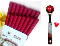 16pcsRed Wine Vintage Wax Stick Round Colorful Wax Stamp Sealing Wax Sticks For Glue Gun Sealing