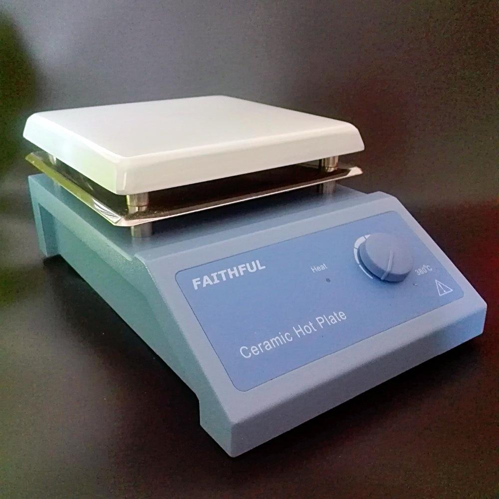 ლაბორატორიული გათბობის მოწყობილობა 220V / 110V, კერამიკული ზედაპირი, კოროზიის წინააღმდეგობა, 0 ~ 380 გრადუსი ტემპერატურის კორექტირება.