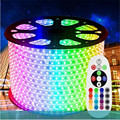 Christmas 10m/roll 220V LED Strip 16 color RGB low power consumption high brightness 60led/m IP65 water proof 5050 LED strip