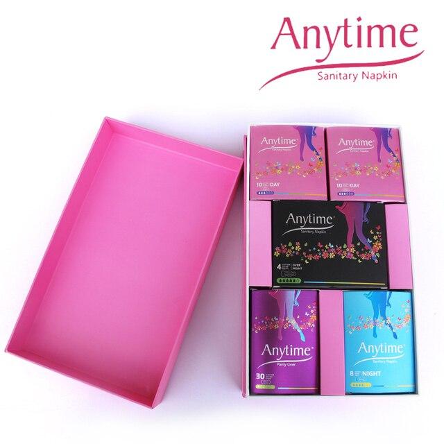 500 Gift Boxes Anytime Sanitary Napkin Hygiene Women Napkins Anion Cotton Sanitary Napkin Medicated Lady