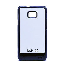 SAM S2 I9100 Blank 2D PC sublimation Phone Cases Customized DIY Heat Transfer Plastic Covers with White Aluminium Plate(China)
