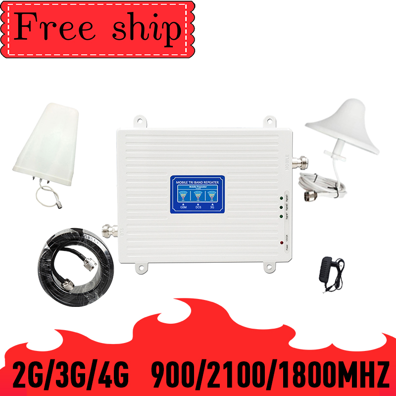 TFX-BOOSTER GSM 900 LTE DCS 1800 WCDMA 2100mhz Triple Band Cell Phone Signal Booster 2G 3G 4G  Mobile Cellular Signal Repeater