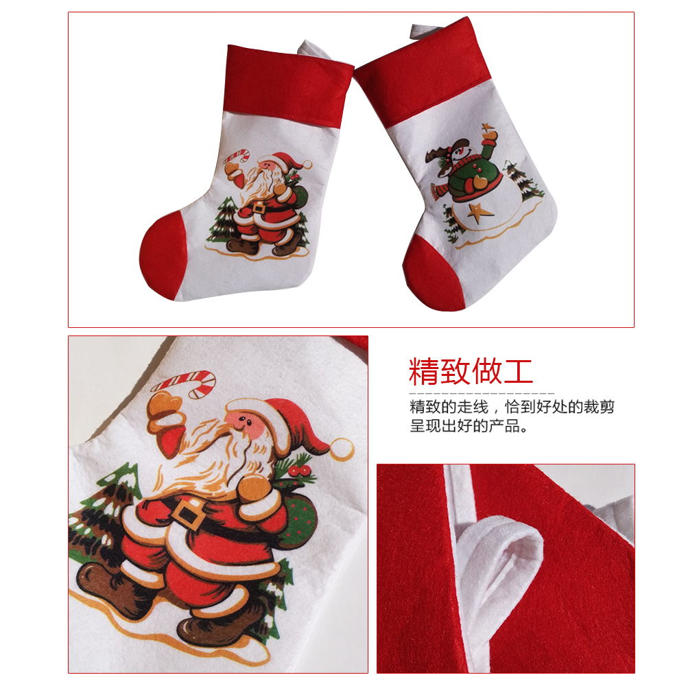 Charming Christmas Santa Claus+snowman 2pairs/set Socks Stocking Candy Gift Bag Tree  Stand Hanging For Decorations Xmas Season Home Party In Pendant U0026 Drop  Ornaments ...
