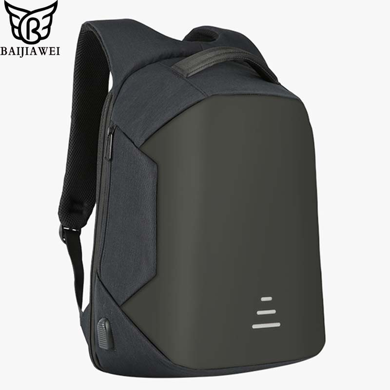 BAIJIAWEI Multifunctional Anti-theft USB Charging Backpack Men Women Notebook Shoulder Bags Leisure Travel Backpack School Bags 2016 newest wave fashion backpack women casual dackpacks backpack school leisure travel school bags women s shoulder bags bolsos