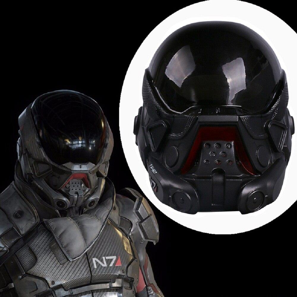 Cos jeu chaud effet de masse andromède masque Cosplay casque PVC Halloween accessoire de fête