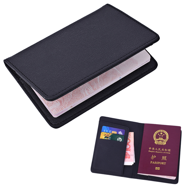 Klsyanyo Passport Cover PU Leather travel Passport with Credit Card Holder Wallet Protector Cover Case floveme retro business pu leather wallet case cover handbag