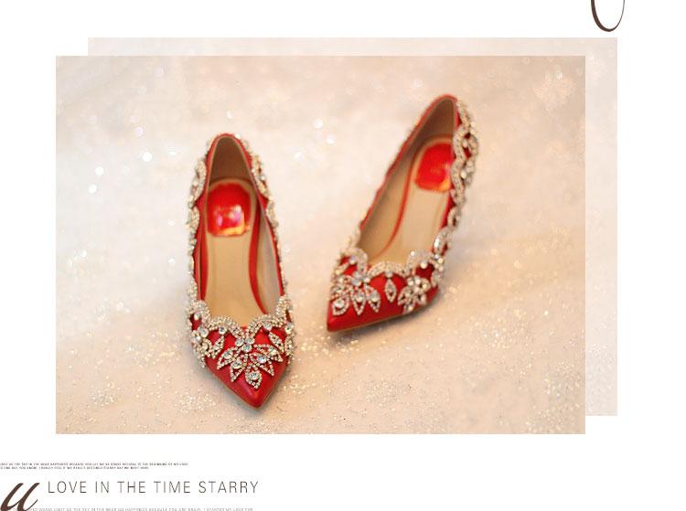 Avec Haute Stiletto Strass Hauts Mariée Chaussures De Marié Robe Cristal Emma Pompes Femme Super à Talons Red Rouge Roi Pointu Mariage wAY4nvq7xP