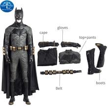 ManLuYunXiao Cosplay Costume Newest Justice League Cosplay Costume Batman Cosplay Costume For Halloween Men Full Set Custom Made цена 2017
