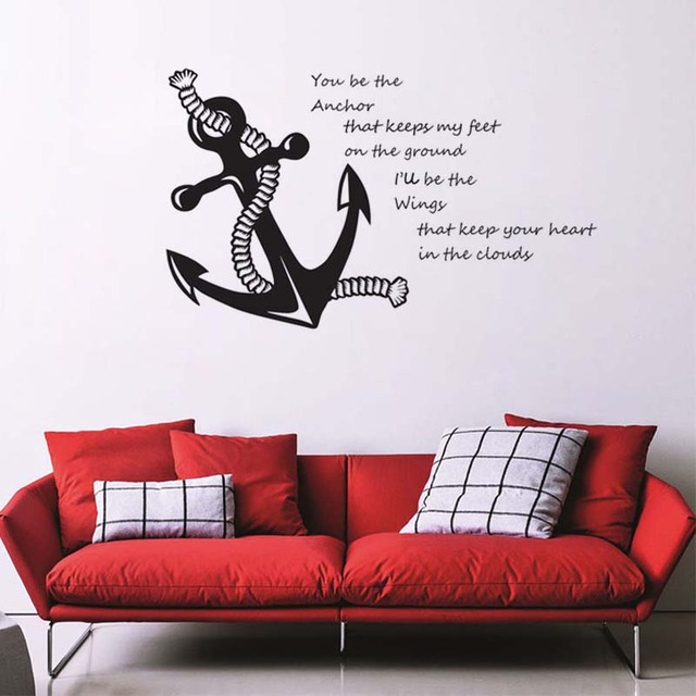 you be the anchor quotes vinyl wall decals rope and anchor art
