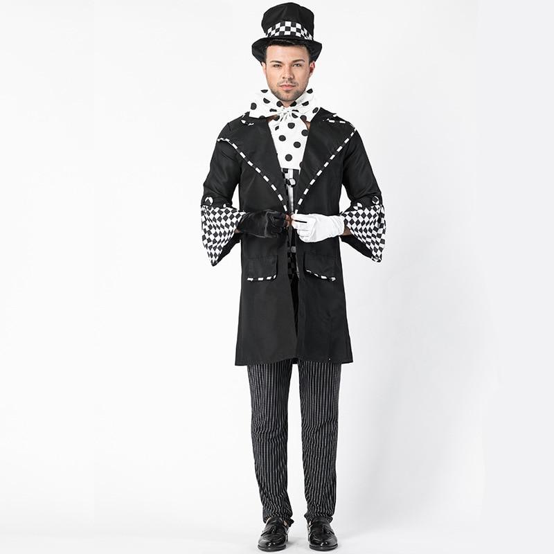 Uniforme masculin Cosplay de magicien d'halloween de haute qualité, Costume de magicien européen, Costume de scène de jeu de rôle Chaplin L1862185