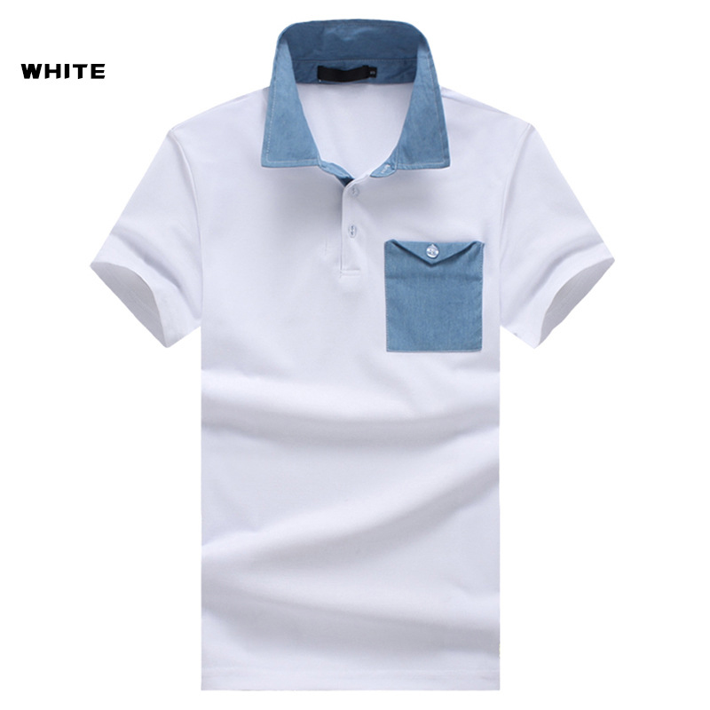Pocket Design Mens   Polo   Shirts Solid Short Sleeve   Polos   Hommes New Summer Cotton bussines formal   POLO   Breathable