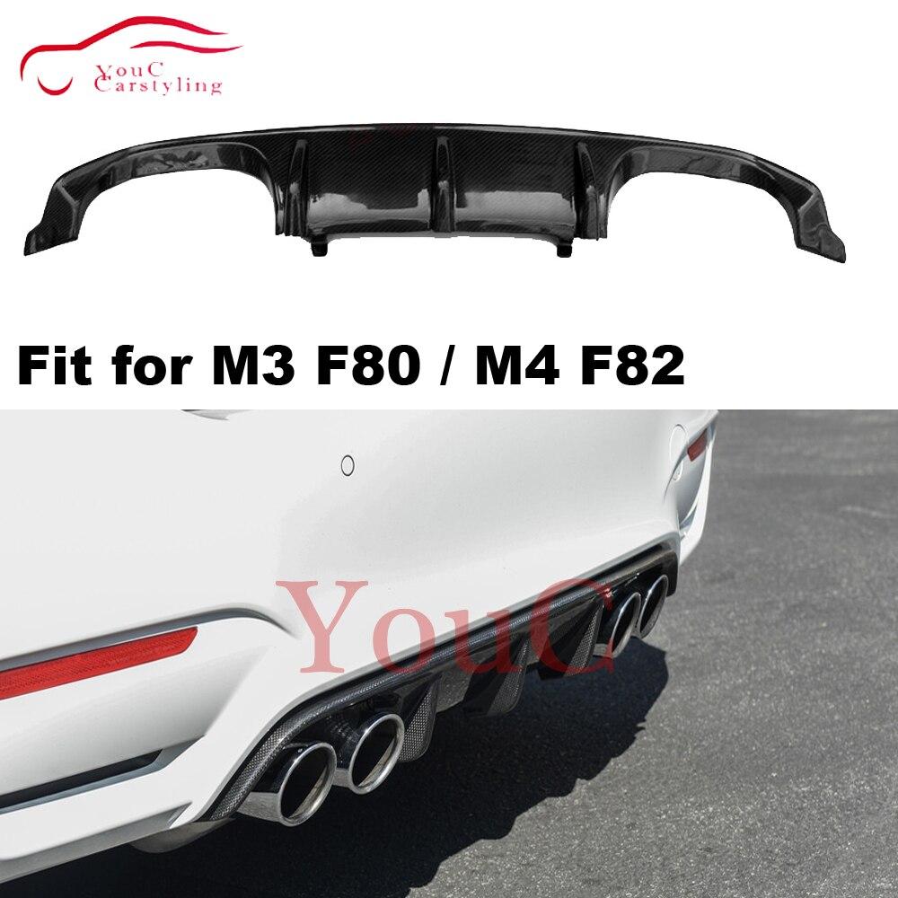 M3 M4 fibre de Carbone Diffuseur Arrière lèvre de pare-chocs aileron bmw M3 F80 Berline M4 F82 F83 Cabriolet Coupé 2014 +