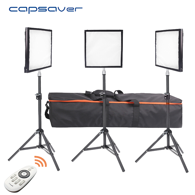 capsaver FL-3030 LED Video Light 3 in 1 Kit Flexible Photography Lighting Panel with Tripod Remote Control 30*30cm CRI 90 5600K sanwa button and joystick use in video game console with multi games 520 in 1