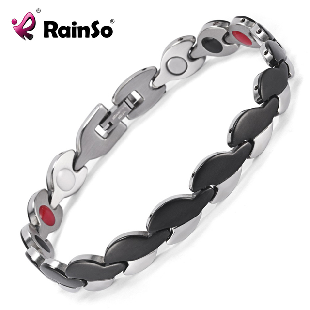 Fashion Jewelry Good For Health Bracelet Brand Stainless Steel Anti Fatigue Bracelets Men