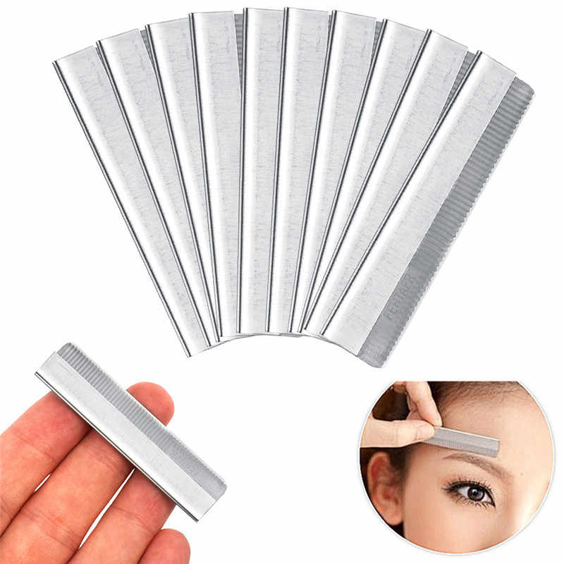 2019 Brand New 10Pcs/set  Eyebrow Razor Trimmer Blade Facial Knife Blade Hair Removers Shaper Tool Professional Make Up Tools