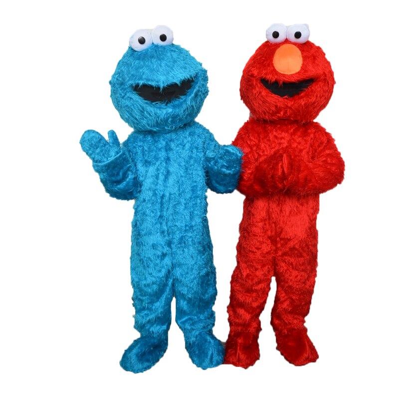 Vendita diretta della fabbrica di alta qualità Pelo Lungo Elmo Del Costume Della Mascotte Carattere Costume Costume Del Fumetto Elmo Cosplay