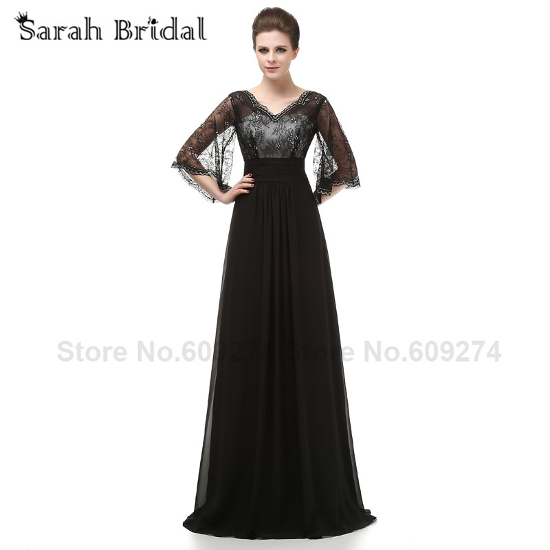 Wedding Guest Outfits Black Lace vestidos de fiesta Mother Of The ...