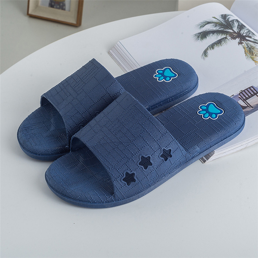 Men Lattice Flat Bath Slippers Summer Sandals Indoor & Outdoor Slippers Flip Flops men sapato masculino Mans footwear terlik