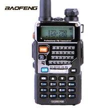 Walkie talkie baofeng UV 5RE além de rádio bidirecional uhf vhf banda dupla rádio cb uv 5r 5 w portátil rádio ham para caça transceptor