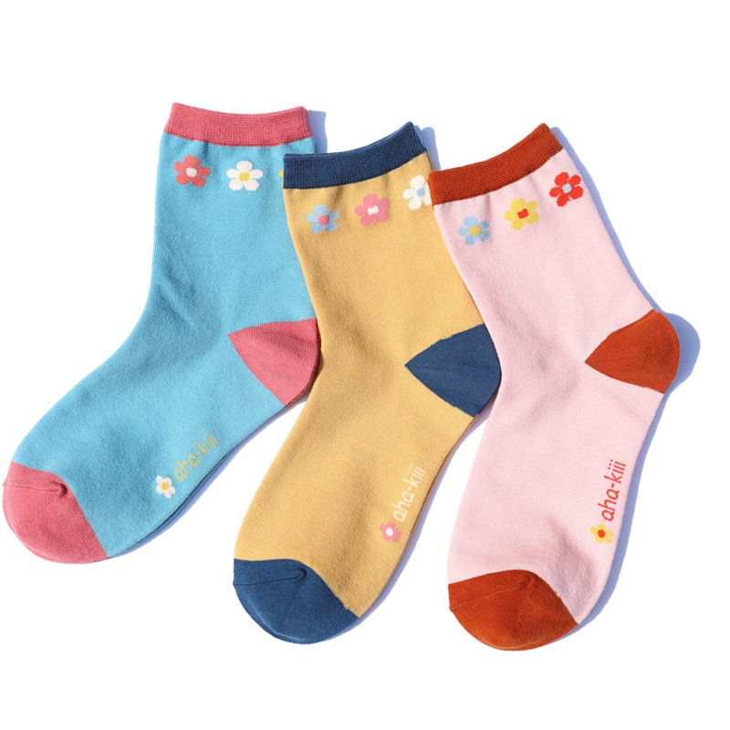 New Lively Cute Little Flower Cotton Women Socks Original Autumn Top Quality Fashion Small Floral Lovely Sweet Girls Lady Socks