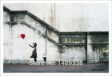 Framed New product  BANKSY There Is Always Hope,Oil Wall Painting Abstract Wall Art Decor Freeshipping black white pop art GAZ48