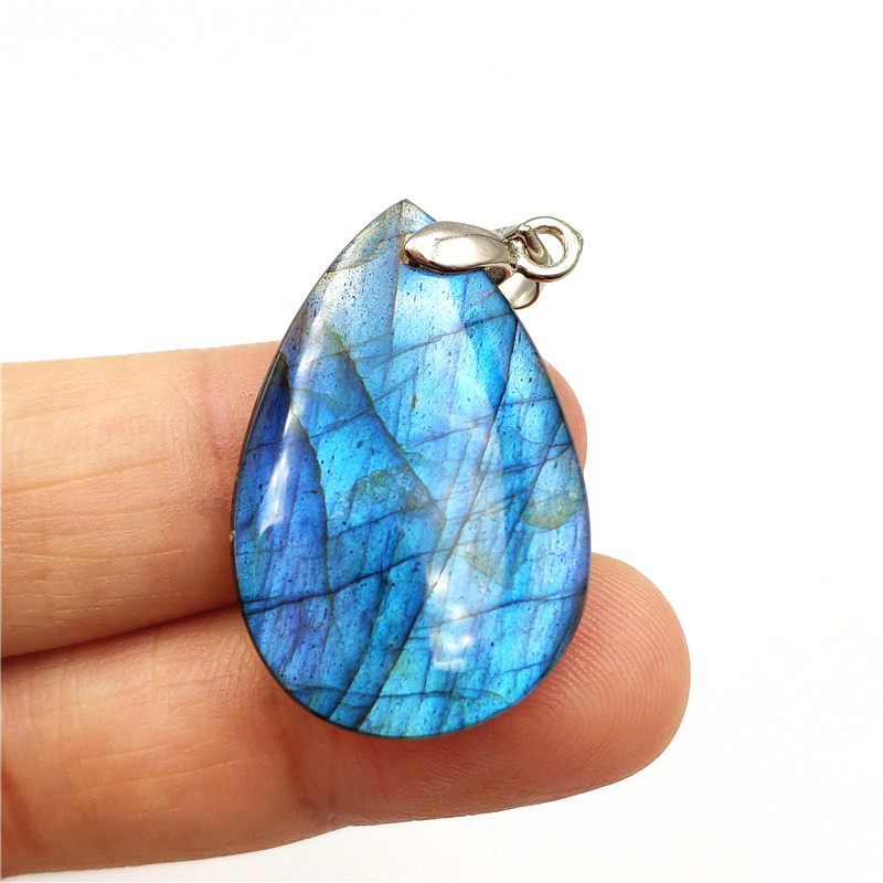 Natural Blue Labradorite Pendant Women Men Water Drop Gemstone Love Gift Crystal Silver Sterling 30x20x6mm Necklace Pendant AAAANatural Blue Labradorite Pendant Women Men Water Drop Gemstone Love Gift Crystal Silver Sterling 30x20x6mm Necklace Pendant AAAA