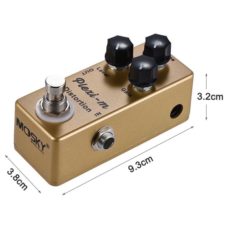 Image 3 - MOSKY Plexi m электрогитара Педаль Эффекта Искажения гитарные части металлический корпус настоящий обходДетали и аксессуары для гитар   -