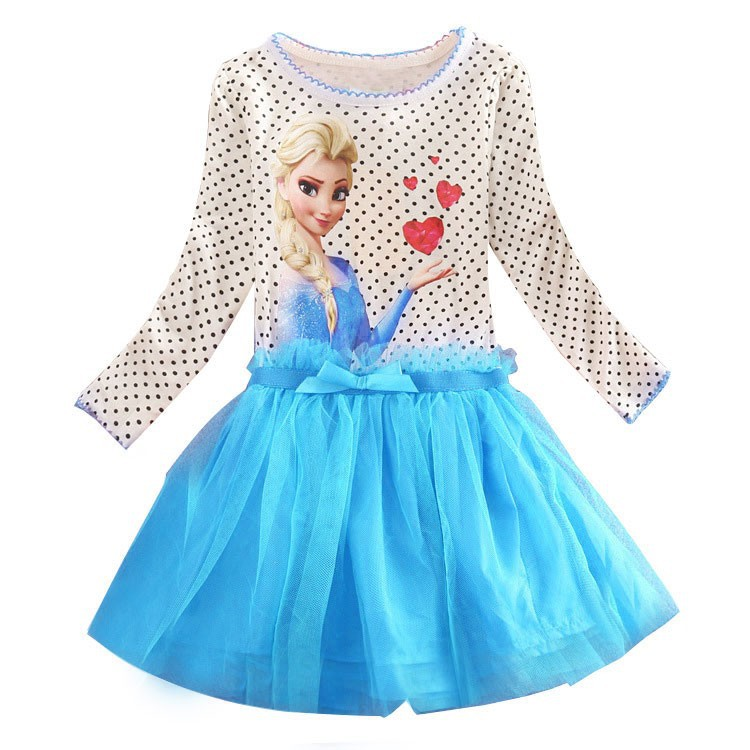 Summer Baby Girl Dress Princess Vestidos Fever 2 Anna Elsa Dress Birthday Party Dress Children Clothing For Kids Costume hot 2017 summer girl fashion elsa anna dress children clothing girls princess elsa anna party dresses baby kids clothes vestidos