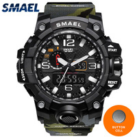 Military Watch Digital SMAEL Brand Watch S Shock Men S Wristwatch Sport LED Watch Dive 1545B