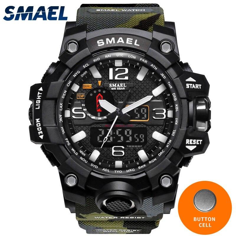 Orologio militare Digitale SMAEL Vigilanza di Marca S Shock Orologio Da Polso Da uomo di Sport LED Watch Dive 1545B 50 m Wateproof Fitness Orologi sportivi