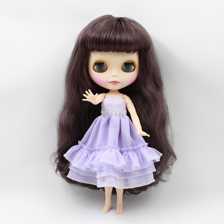 Free shipping Nude Blyth Doll For Series No. BL9219 Joint Doll Black hair Suitable For DIY Change BJD Toy For Girls цена и фото