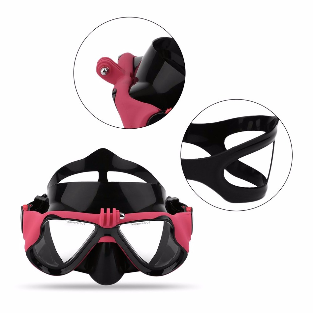 Hot Dropship Professional Underwater Camera Diving Mask Scuba Snorkel Swimming Goggles for GoPro Xiaomi SJCAM Sports Camera 1