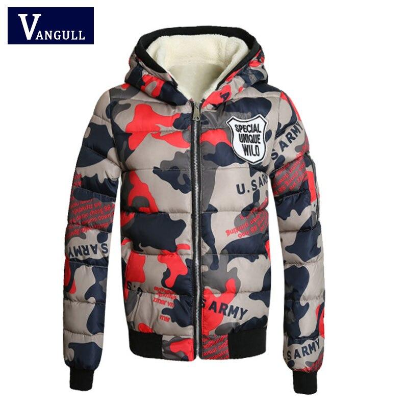 Vangull 2017 Cotton Padded Short Winter Jacket Women's Thick Warm   Parka   For Women camouflage Coat Female Winter Jacket Coat Lady