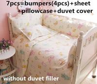 Promotion! 6/7PCS Baby Bedding Set Crib Sets cot bumper Bed Cover Baby Cot Bedding Sets .,duvet cover ,120*60/120*70cm