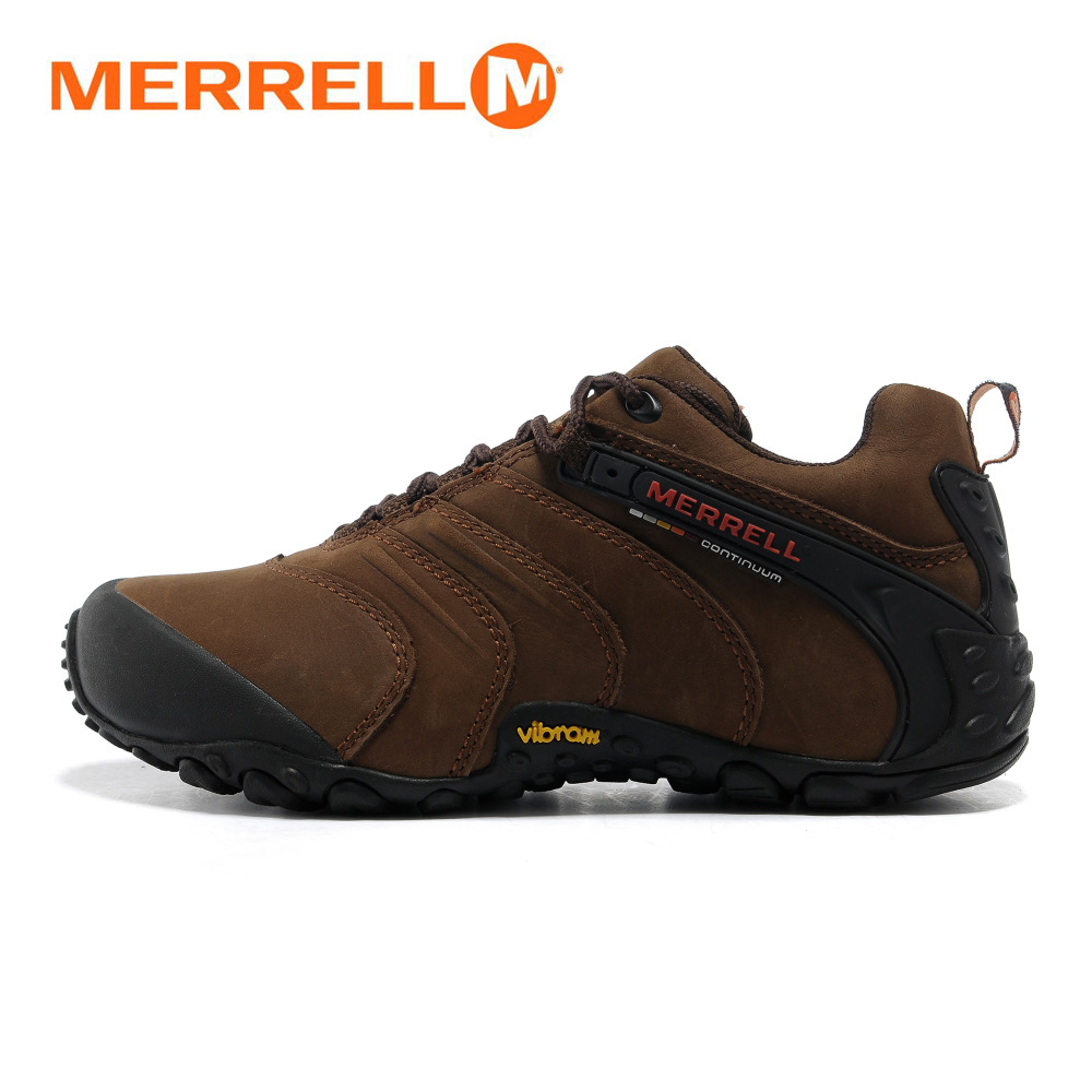 Merrell Original Professional Outdoor Men Nubuck Genuine Leather Hiking Shoes for Cross-country Mountaineer Climbing Sneakers original li ning men professional basketball shoes