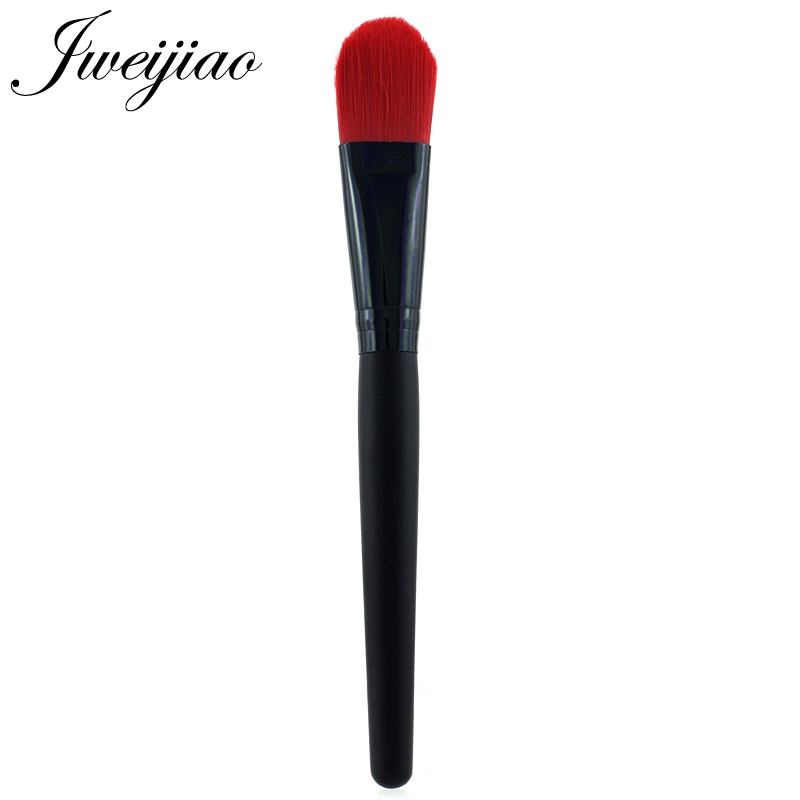 JWEIJIAO Black Handle Red Hair Loose Powder Brush Professional Foundation Single Blush For Women Girl Makeup Brushes Tools in Eye Shadow Applicator from Beauty Health
