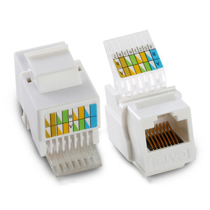 Image 4 - RJ45 Cat5e Cat6 UTP Keystone Female Jack Connector Adapter for Wall Plate Wisted Pair RJ 45 Internet Network Ethernet Lan Cable