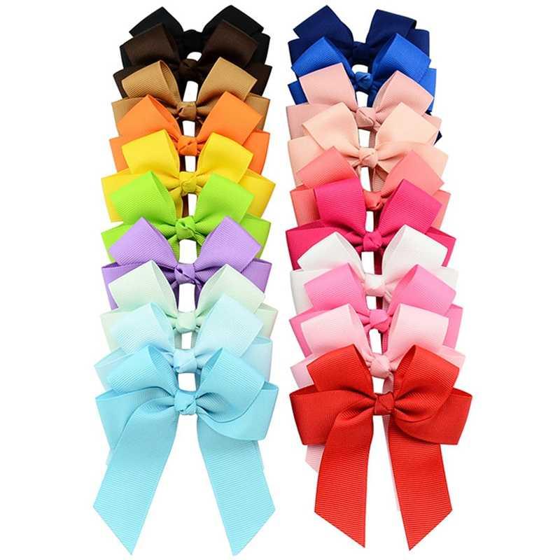 2019 Новый прекрасный подарок 20 шт дети девочки корсажная лента ручной работы лук заколки для волос по бокам