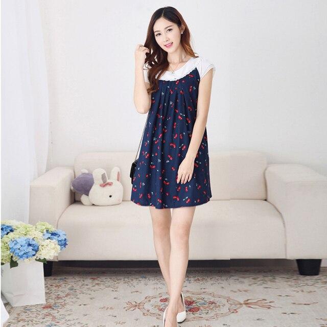 70cc2be8d332 2017 estate maxi abiti vestiti di maternità gravidanza un line cherry  vestito estivo abbigliamento gravidanza premama