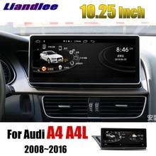 Liandlee Car Multimedia Player NAVI 10.25 inch For Audi A4 A4L B8 8K 2008~2016 Original Car Style Radio Stereo GPS Navigation