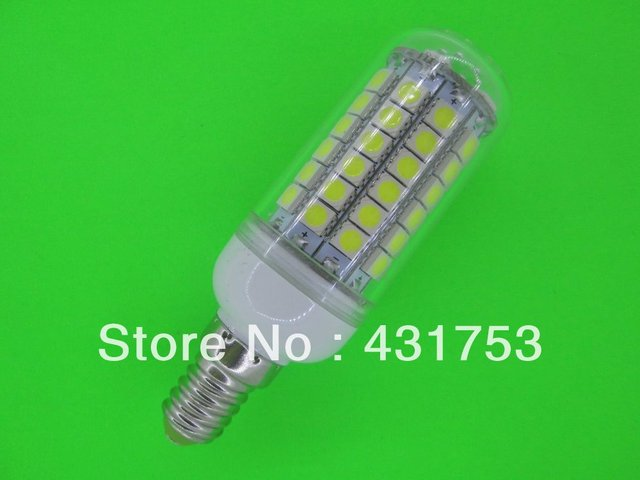 40 PCS NEW  E14 12W 5050 69LED Corn Bulb Light LED Lamp 200V-240V 360 degree white / warm white ( high brightness )