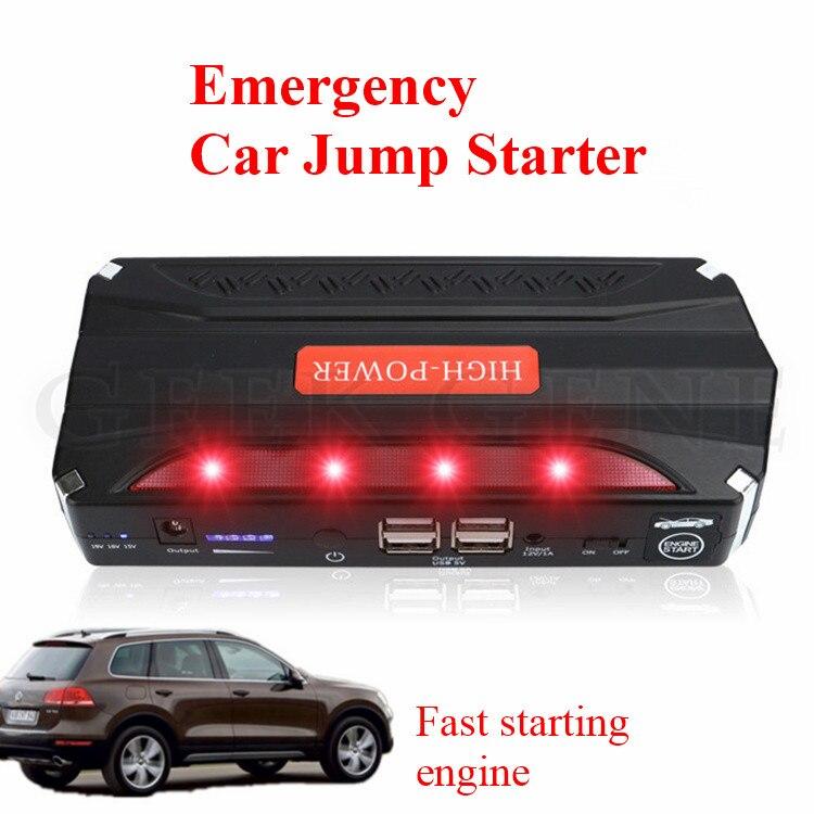12V High Capacity 68800mAh Car Jump Starter 4USB Power Bank Portable 600A Peak Car Battery Booster